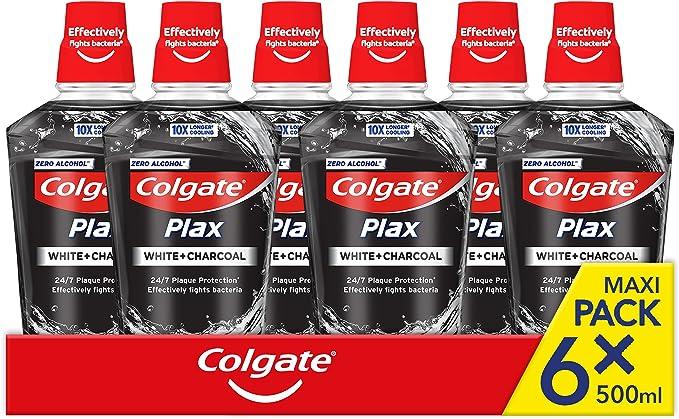 341 opinioni per COLGATE Collutorio Plax Carbon+White Maxi Formato, con estratti di Carbone, per