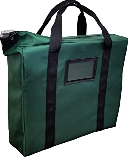 Briefcase Style Locking Document Bag (Forest Green)