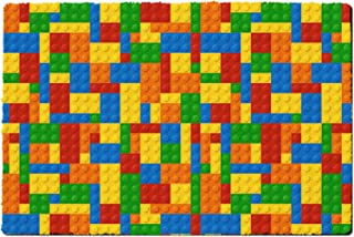 Rainbow Rules Indoor Doormat - Building Blocks