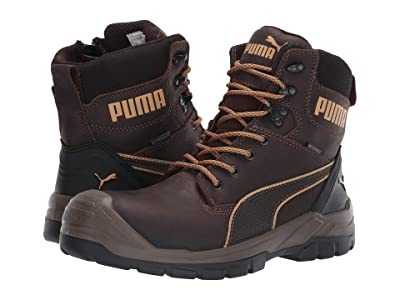 PUMA Safety 7 Conquest Zip WP (Brown) Men