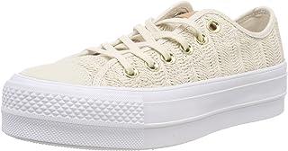 Converse Womens Chuck Taylor All Star Lift Herringbone Mesh Low Top Sneaker