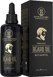 THE WINNER 2019* ORGANIC Beard Oil Vegan - Extra Large 100ml Violet Glass Bottle – Nourishing Beard Care - All-Natural Oils, No Additives - For A Healthy Beard – SatinNaturel MEN - Made In Germany