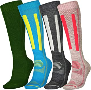 Alpine Thermal All Year Performance Merino Wool Ski Socks, Hiking Snowboarding, Multi, Unisex
