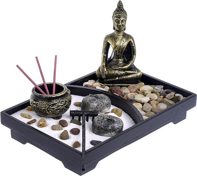 231 opinioni per London Boutique Zen Garden- Portacandele con Buddha in stile Buddha e pietre