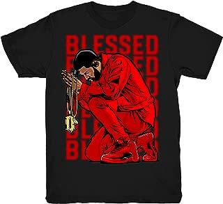 Gym Red 12 Drake Blessed Shirt to Match Jordan 12 Gym Sneakers Black t-Shirts