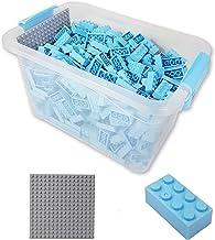 Katara-Juego De 520 Ladrillos Creativos En Caja Con Placa De Construcción 100% Compatibles Con Lego Classic, Sluban, Papimax, Q-bricks, color azul claro (1827) , color/modelo surtido