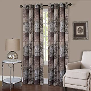 Achim Home Furnishings, Brown Vogue Grommet Window Curtain Panel, 50