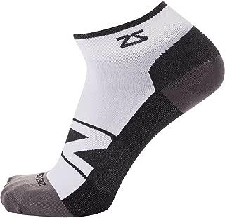 Zensah Peek Ultra-Thin Lightweight Running Socks for Men and Women – Anti-Blister,  Moisture Wicking Sport Socks,  Seamless Toe