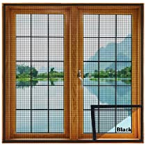 Upgraded & Stitched – LifeKrafts Window Mosquito Net (Size-50×50 cms/39 * 90.5 Inches/3.28 * 7.5 Feet, Color-Black) 120 GSM Fiberglass Insect Net Pre-Stitched to Net – Ready to use Net