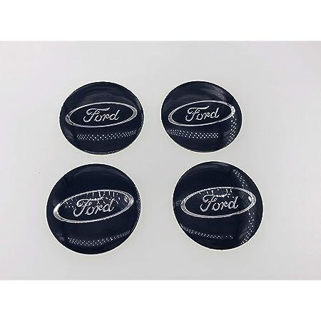 Lanpard 4 X 56 Mm Blaue Felgendeckel Emblem Aufkleber Für Ford Auto