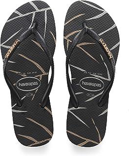 Havaianas Women's Slim Logo Metallic Sandal