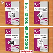IGNOU MA (Latest Edition 2019) Public Administration MPA-15 MPA-16 MPA-17 MPA-18 (English Medium) Second Year COMBO of IGNOU Help Books with Solved Previous Years' Question Papers Important Exam Notes