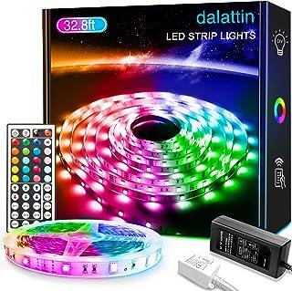 Sponsored Ad - 32.8ft Led Lights dalattin Led Strip Lights Color Changing Lights with 44 Keys Remote,1 Roll of 32.8ft