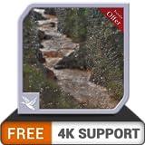 無料の雨の滝の森のHD-HD 8 k 4 kテレビと火のデバイス上の平和と雨のテーマを壁紙&調停&平和のテーマとして
