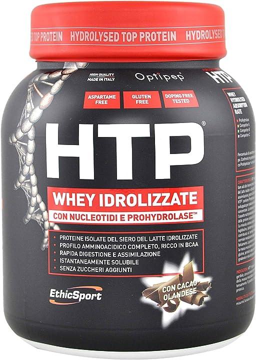 Whey idrolizzate con nucleotidi e prohydrolase® - barattolo da 750 g - cacao ethicsport - htp 8051764430581
