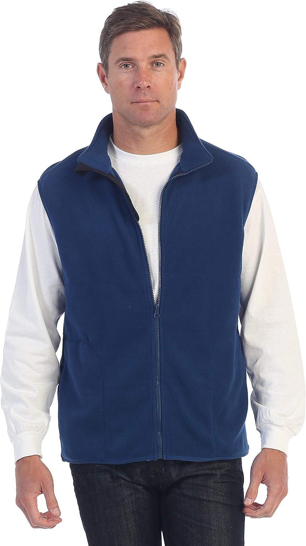 2021 new Gioberti Men's Full Zipper Vest Polar Fleece SALENEW very popular!