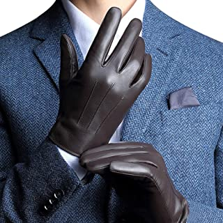 Best Leather Gloves for Mens, Full-Hand Touchscreen Gift Packaging Cold Weather Gloves Review
