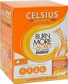 CELSIUS INC. DRINK,SPARKLING ORANGE, 4/12 FZ