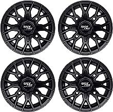 RockTrix RT104 12in ATV Wheels Rims 12x7 Matte Black | 4x156 Bolt Pattern | 4+3 offset | for many Polaris Sportsman RZR Ranger (4/156) - Set of 4