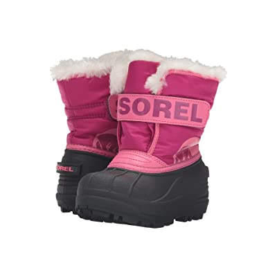 SOREL Kids Snow Commander (Toddler/Little Kid) (Tropic Pink/Deep Blush) Girls Shoes