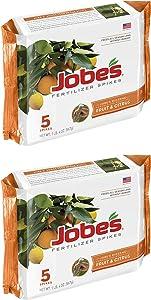 Jobe's Fruit & Citrus Fertilizer Spikes 9-12-12 Time Release Fertilizer for All Fruit Trees (2)
