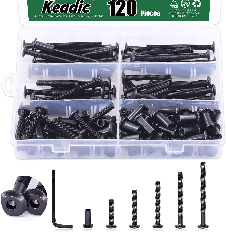 Seasonal Wrap Introduction Keadic 141Pcs Black M6 Hex Drive Socket Hea Bolts Allen Kit Max 66% OFF Cap