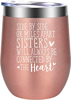 Sister Gifts from Sister, Brother - Funny Birthday, Christmas Wine Gifts Ideas for Sisters, Soul Sister, Little, Big Sister, Sister in Law - Stocking Stuffers for Sister - GSPY Sister Wine Tumbler