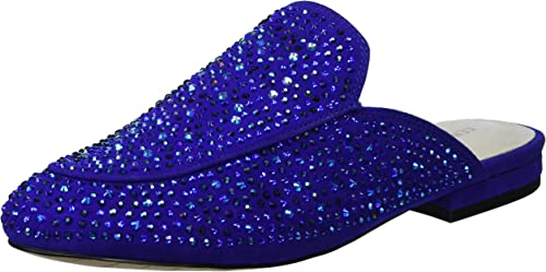 Kenneth Cole New York Wohommes Walden Shine Glitzy Flat Slip On Loafer, Electric bleu, 9.5 M US