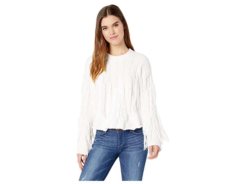Show Me Your Mumu Carlton Crop Fringe Sweater (Alpine Knit) Women