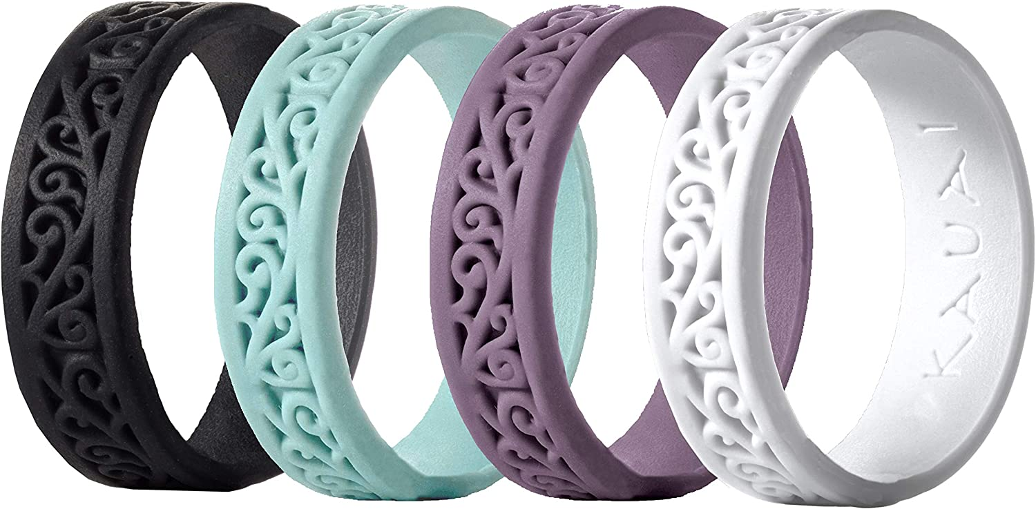 KAUAI - Silicone Wedding Ring for Women -Leading Brand, from The Latest Artist Design Innovations to Leading-Edge Comfort: Pro-Athletic Ring & Kauai Elegance Rings Collection