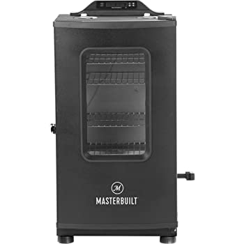 Masterbuilt MB20073519 Bluetooth Digital Electric Smoker with Broiler, 30 inch, Black