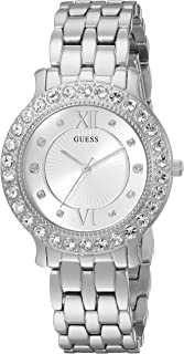 GUESS Women's Quartz Stainless Steel Casual Watch, Color:Silver-Toned (Model: U1062L1)