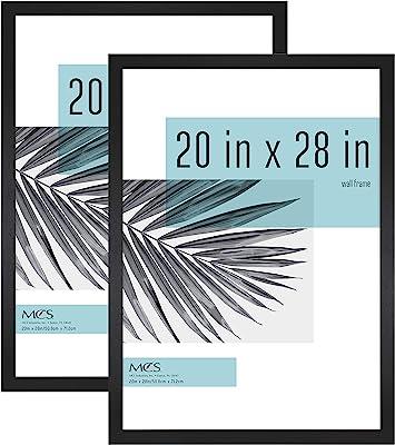 MCS Industries Studio Gallery Frames, 20x28 in, Black Woodgrain, 2 Count