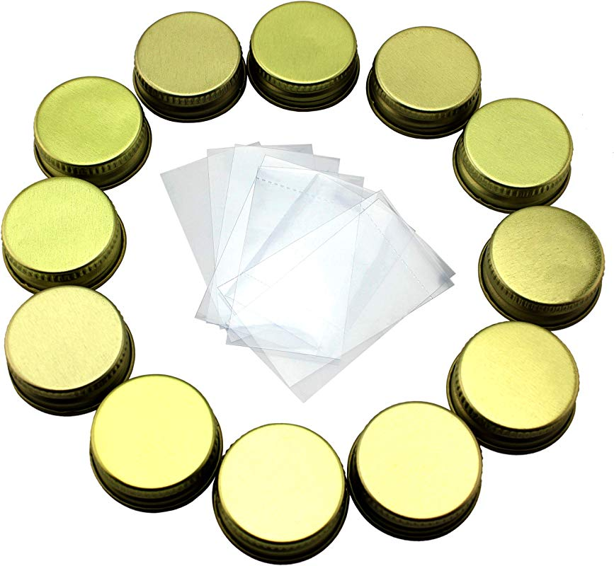 28 400 Replacement Caps Shrink Bands For Syrup Bottles 12 Pack 24 Pieces Fits 8oz 12oz Glass Syrup Bottles