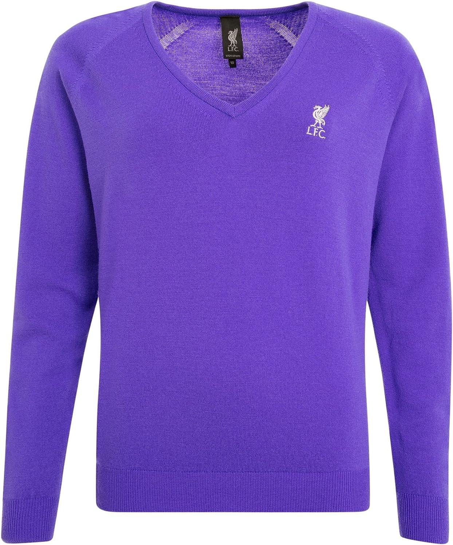 LFC Signature Collection Ladies V Neck Purple Jumper