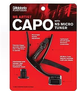 D'Addario Accessories D'Addario NS Artist Capo with NS Micro Headstock Tuner - PW-CP-10NSM