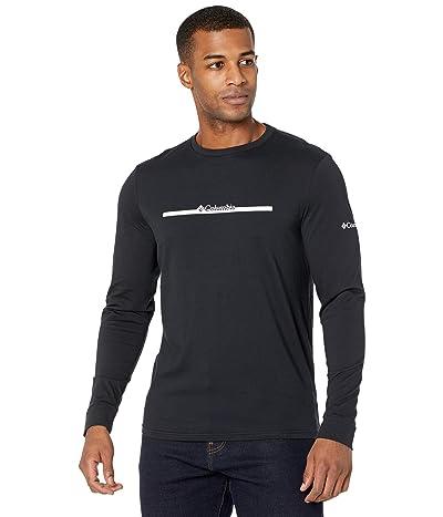 Columbia Columbia Lodge Long Sleeve Graphic Tee (Black/CSC Bar Split) Men
