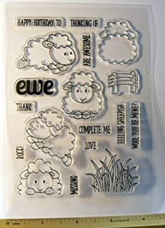 Sheep Clear Rubber Stamp Set