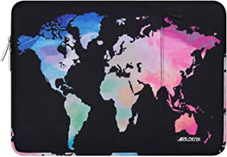 MOSISO Laptop Sleeve Compatible with 2019 2018 MacBook Air 13 inch Retina Display A1932, 13 inch MacBook Pro A2159 A1989 A1706 A1708, Notebook, Polyester Bag with Vertical Pocket, Black World Map