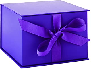 """Hallmark 7"""" Purple Gift Box with Lid and Shredded Paper Fill for Easter, Mother's Day, Weddings, Graduations, Birthdays, Bridesmaids Gifts and More"""