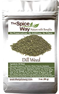 The Spice Way Dill Weed - great seeds for pickling, vegetables, pasta, salads and soups. 3 oz