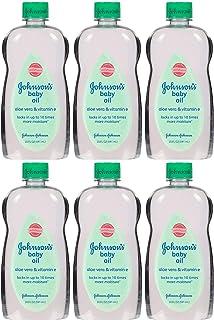Johnson's Baby Oil, Mineral Oil Enriched With Aloe Vera and Vitamin E to Prevent Moisture Loss, Hypoallergenic, 20 fl. oz...