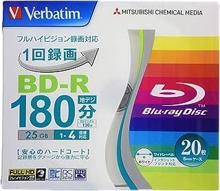 三菱ケミカルメディア Verbatim 1回録画用 BD-R VBR130YP20V1 (片面1層/1-4倍速/20枚)