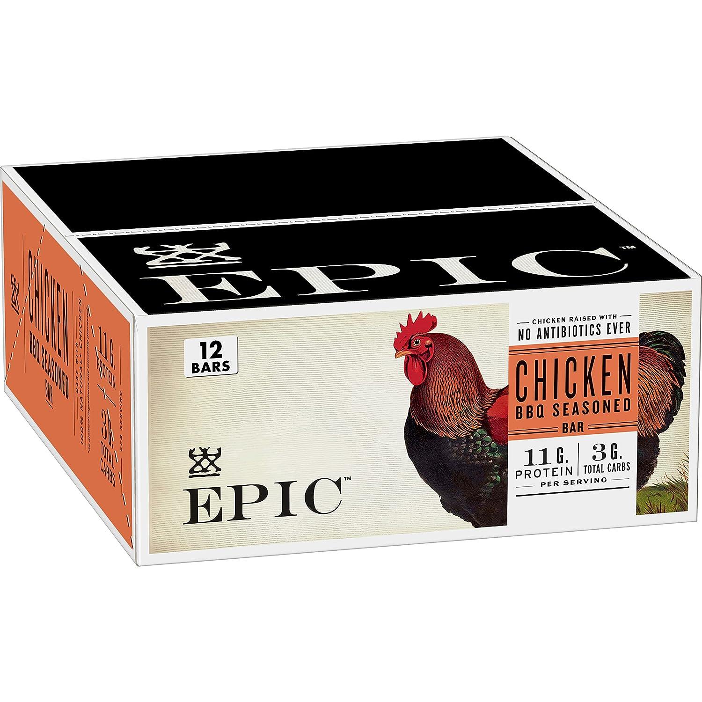 EPIC Chicken BBQ Ranking TOP18 Seasoned Protein Gluten Friendly Fr Keto Bars Max 72% OFF