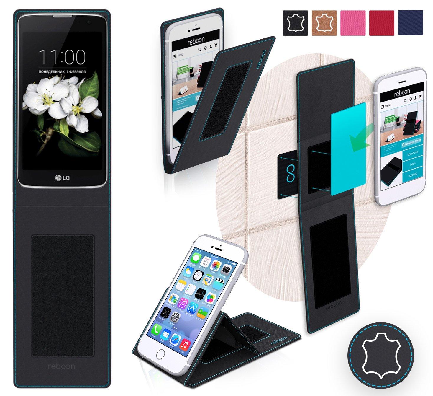 Funda para LG K7 en Cuero Negro: Amazon.es: Electrónica