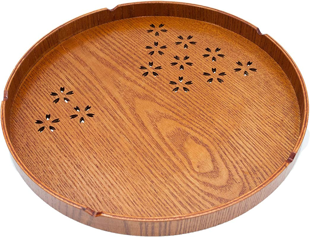 Japanese Style Cherry Pattern Tea Tray
