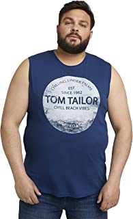 TOM TAILOR Men+ Camiseta sin Mangas para Hombre