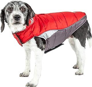 DOGHELIOS 'Hurricane-Waded' Plush Adjustable 3M Reflective Insulated Winter Pet Dog Coat Jacket w/Blackshark technology, L...