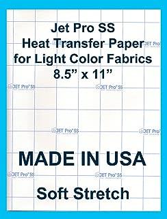 "65 PK INKJET IRON ON HEAT TRANSFER PAPER NEENAH JETPRO SOFSTRETCH 8.5 X 11/"""