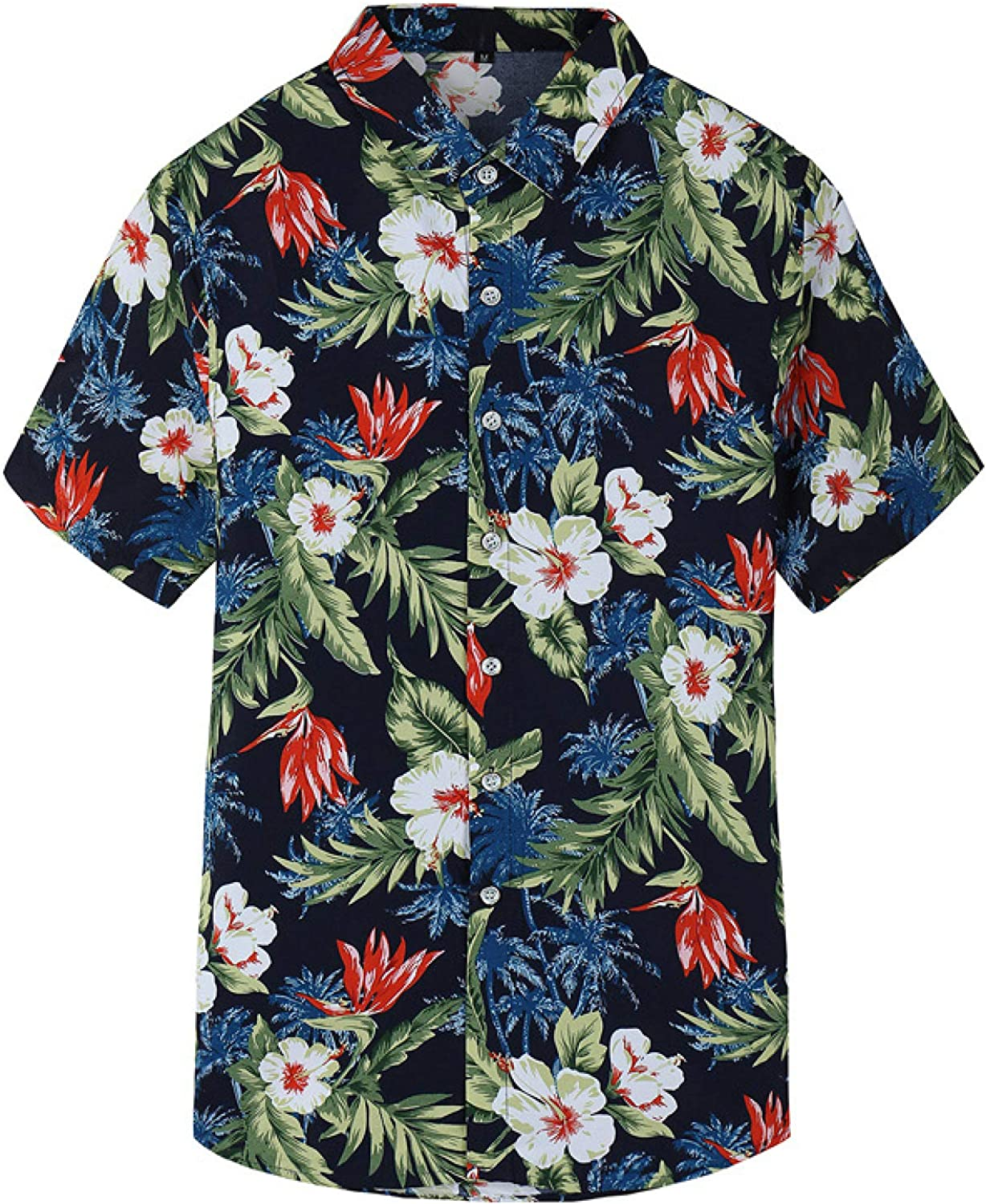Luandge Men's Personality Printed Al sold out. Flower Large Size Shirt Super popular specialty store Trend